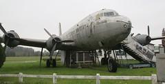 Douglas DC-4 Skymaster (C-54) N90443 at Overboelare, Belgium (kitmasterbloke) Tags: vintage belgium aircraft piston wreck douglas relic skymaster dc4 c54 propliner overboelare n90443