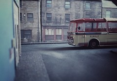 Ribble Coach at King Cross, Halifax 1966 (ManOfYorkshire) Tags: panorama bus buses stone buildings coach corgi leopard 1960s diorama leyland diecast 176 ribble ooc plaxton oogauge