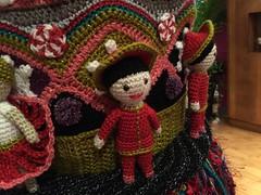 2015-10-06 21.06.38 (The Crochet Crowd) Tags: party crochet mikey exhibit yarn nutcracker artistry freeform caron simplysoft creativfestival yarnbomb crochetcrowd crochetnutcracker crochetstatue