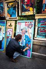 The Artist (Scott Mohrman Photography) Tags: new city urban art painting scott square french photography orleans louisiana artist artistic wayne neworleans jackson frenchquarter painter quarter jacksonsquare local nola manns mohrman