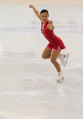 Jemima Rasmus III (PuffinArt) Tags: red ice speed glamour nikon artistic skating dancer puffinart elegant nikkor drama vr d300 supple 105mm energetic akk vandamalvig kunstlp askerhallen september2015 kunstlpstevne