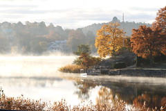 Neglinge (Daz Bergman) Tags: autumn colors foggy waters saltsjbaden