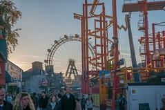 Prater Crowd Scene (WrldVoyagr) Tags: vienna wien park wheel austria amusement sterreich nikon ferris ferriswheel amusementpark hdr photomatix tonemapped 5xp at d300s