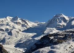 Mont-Rose et Lyskamm (www.nathalie-chatelain-images.ch) Tags: alpes gris nikon suisse bleu montrose neige blanc rochers glace valais montagnes lyskamm