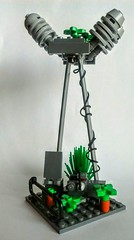 LEGO Utility Tower (wesleyobryan) Tags: city tower overgrown ruins lego future electricity vignette apocalego