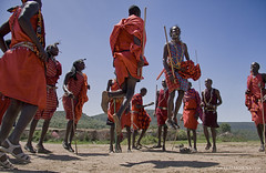 Masai Dance (Isaias Mena) Tags: africa travel red dance jump dancer jumper masai masaimara fum