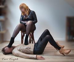 elle_et_lui32 (Cuir Couple) Tags: leather sm mistress leder femdom slave cuir matresse ballbusting soumis