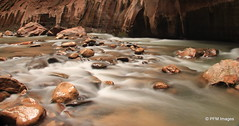 The Narrows Hike (pandt) Tags: park nature water canon river utah stream long exposure flickr outdoor hiking united canyon virgin explore national zion flowing states zionnationalpark slot narrows canyoneering