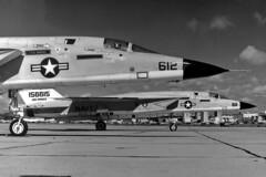 RVAH-7 RA-5C Vigilantes (skyhawkpc) Tags: northamerican ussranger rvah7peacemakers ra5c vigilante 156641 ne612 156615 ae611 1979 officialusnavy navy usn naval aviation aircraft airplane usnavy