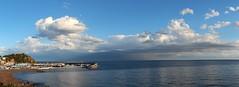 Després de la pedregada (Albert T M) Tags: blue azul mediterraneo catalonia bleu nubes catalunya blau nuages costabrava blanes núvols laselva catalogne mediterrani portdeblanes