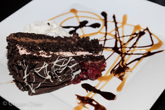 Cafe Amore 151206-4125a (Chuan Chee) Tags: food cake dessert restaurant chocolate raspberry stcatharines