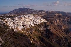 Santorini - Thira - panorama 2 - Explore (luco*) Tags: greece grèce hellada cyclades kyklades santorini santorin fira thira village île island explore flickraward flickraward5