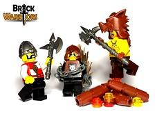 Found Him (BrickWarriors - Ryan) Tags: castle hammer toys war wolf lego helmet battle medieval fantasy axe custom nasal minifigure barbarian pelt brickwarriors