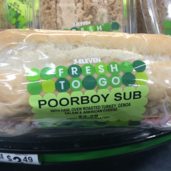 """poorboy"" sub (Molly Des Jardin) Tags: food usa philadelphia bread pennsylvania eating sub sandwich philly 711 poorboy hoagie poboy 2015 iphone5sbackcamera415mmf22"