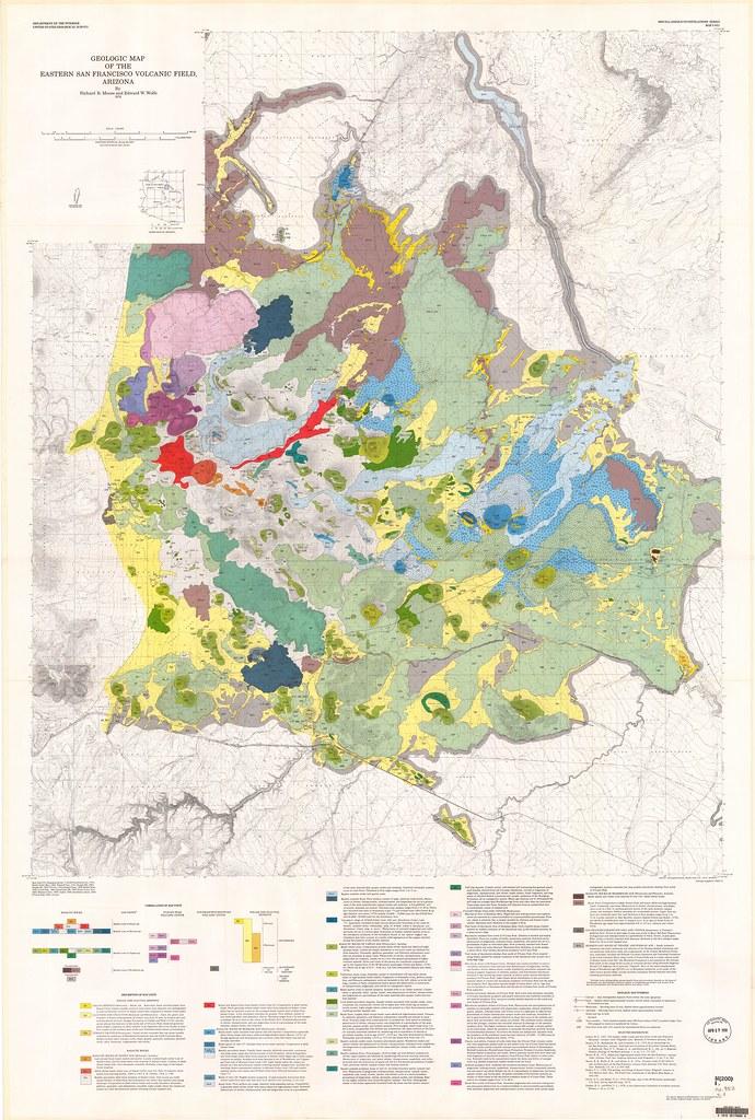 Geologic Map Of Arizona.Exploring Northern Arizona S San Francisco Volcanic Field
