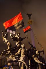 Standard-bearers (D. Kutz) Tags: flag protest ukraine kiev kyiv maidan ukraina kijów euromaidan
