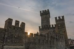 Scaliger castle (stefanromen) Tags: italien sunset italy lake castle landscape see sonnenuntergang landschaft brescia burg sirmione lakegarda gardasee scaligercastle castelloscaligero