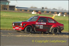 00095_Swift Signs Chrismas Stages 27.12.2015 (ladythorpe2) Tags: christmas red ford sport december bell yorkshire 14 rally north engine stages croft graeme darlington mk2 swift nr circuit russ 27th radford escoert millington 2015 rs2500