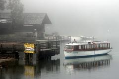 A Misty Mrning At The Lake (Alan1954) Tags: mist lake slovenia holiday 2016 reflections boat jetty lakebohinj platinumpeaceaward