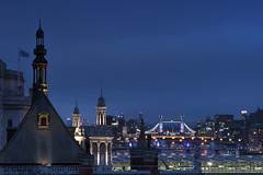 I Spy With My Little Eye... (JH Images.co.uk) Tags: towerbridge roof bluehour night lights bridges millenniumbridge london bridge dri hdr view58 architecture