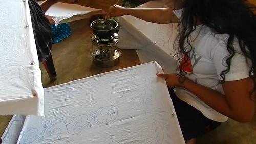 Batik training programme, Kandakuliya, Sri Lanka.