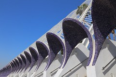 L'Umbracle vista (smitchelrific) Tags: cityofartsandsciences geometric repetition blue tile ceramic spain valencia lumbracle