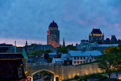 Dawn on Old Quebec (John Andersen (JPAndersen images)) Tags: bridge city dawn fall montmorencyfalls old quebec river