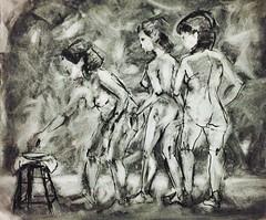 un segundo (lauramurillom) Tags: carboncillo charcoal mujer woman figura disegno figure dessin drawing dibujo