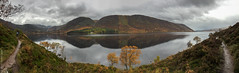 Loch Muick panorama (D-j-L) Tags: birkhall scotland unitedkingdom gb lochmuick loch muick balmoral balmoralestate cairngormsnationalpark highlands lake water mountains hills autumn trees house panorama iphone iphone6 glasalltshiel
