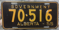 ALBERTA 1956 ---GOVERNMENT PLATE (woody1778a) Tags: alberta government 1955 licenseplate numberplate registrationplate mycollection myhobby registration hobby alpca woody