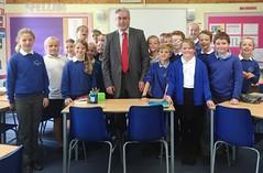 Speaking to Gullane Primary P6 class