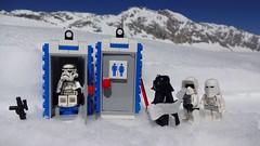 no more yellow snow (klausschaaff) Tags: minifigure darth vader snowtrooper snow toilet zugspitze