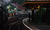 RD14122.  Steam Age Atmosphere. (Ron Fisher) Tags: kingscote oillamps handlamp evening dusk autumn s15 460 847 rail railway railroad transport train tamron tamron18200mm tamronaf18200mmf3563xrdiiildasphericalif pentax pentaxk3 heritagerailway bluebellrailway giantsofsteamsteamgala2016 steam steamlocomotive dampflok eisenbahn chemindefer steamengine locomotive locomotiveàvapeur vehicle uksteam southernrailway lbscr londonbrightonsouthcoastrailway sr afterdark