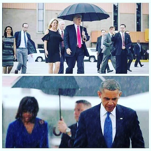 Find the differences. #obama #trump