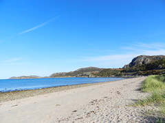 Gruinard Bay, West Coast of Scotland, Oct 2016 (allanmaciver) Tags: gruinard bay beach scotland west coast sun sand sea shore sit wait enjoy realx flask coffee biscuits fruit headland rocky grass blue water allanmaciver steps