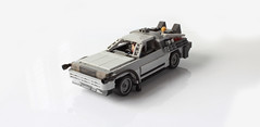 Delorean from BTTF (with instructions!) (hachiroku24) Tags: lego delorean back future moc afol 80s