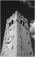 Motovun Tower (kkrasnall) Tags: tower sky motovun clock canon