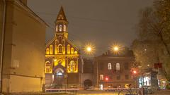 St. John's Church, St. Petersburg (pilot3ddd) Tags: stpetersburg stjohnschurch dekabristovstreet citylights street autumn olympuspenepl7 panasoniclumixg20mmf17 longexposure