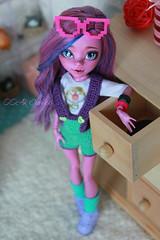 IMG_1848 (Cleo6666) Tags: monsterhigh monster high kjersti trollson mattel ooak repaint doll custom