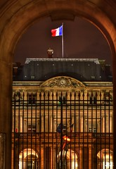 Ministry of Culture from the Louvre (alcowp) Tags: tricolor ministry metro louvre architecture night paris france