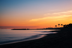 Mediterranean sunset in Marbella, Costa del Sol, Spain (basair) Tags: twilight sunset mediterranean orange silhouette gibraltar malaga marbella costadelsol spain andalusia beach sunlight sun heat romance nature vacations summer tropical palmtree glowing copyspace sand outdoors sea multicolored water sky watersedge seascape cabopino harbor idyllic puertobanus coastline travel dusk