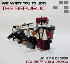 Join the 253rd elite legion! (JAlexanderHutchins) Tags: lego clones 253rd star wars enlistment joining republic poster blaster coolness