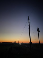 Journey ... (Liane_M_S) Tags: sunset farmland moulton lincolnshire spalding iphoneography