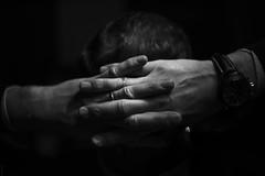 Hands (donlunzo16) Tags: nikon df dƒ raw nef vsco film pack vignette 2 x nd filter nikkor ais lens manual 24mm f12 hands finger bw black white blackwhite fingers chilling evening