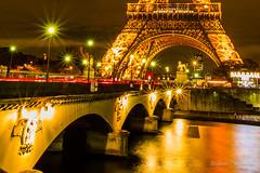 Paris by night. (Bouhsina Photography) Tags: tour eiffel paris france light night bridge water lumière seine fleuve rivière bouhsina bouhsinaphotogrphy canon 5diii ef1635