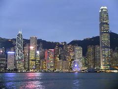 Hong Kong City Skyline (stardex) Tags: hongkong city skyscraper building architecture hk dusk sky sea light concrete hill