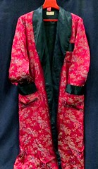 MENSWEAR:  Silk brocade gentleman's robe.