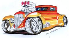 drawing car (ivanutrera) Tags: draw dibujo drawing dibujoalapicero dibujoenboligrafo boligrafo sketch sketching drawingcar car coche auto automvil