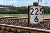 Railway to the isle (Pix4Good) Tags: hectometerstone milestone railroadembankment embankment dyke dike rails sylt nordsee northsea insel isle nikon d750 railway schienen