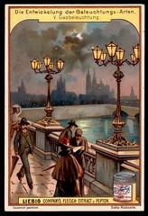 Liebig Tradecard S591 - Gas Light (cigcardpix) Tags: tradecards advertising ephemera vintage chromo liebig